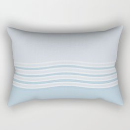 Sea Breeze Calming Blue Rectangular Pillow