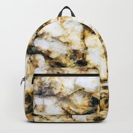 Glamorous Gorgeous Gold Strike Marble Pattern Backpack