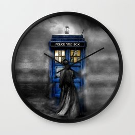 Tardis doctor who lost in the Mist apple iPhone 4 4s 5 5s 5c, ipod, ipad, pillow case and tshirt Wall Clock