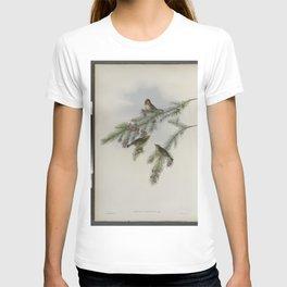 112 Regulus cristatus. Golden crested Wren or Kinglet T-shirt