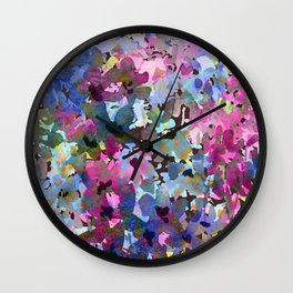 Little Blue Delphiniums Wall Clock