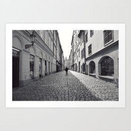 Lane, Prague. Art Print