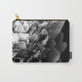 Black and White Summer Peony Carry-All Pouch