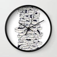 meat Wall Clocks featuring mass meat by Emek Haikel
