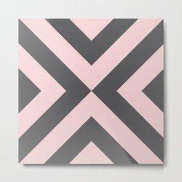Geometric 70s — rose Metal Print