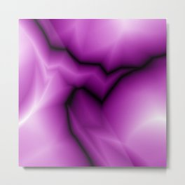 Crisp lines of pink lightning zigzag a triangular gap. Metal Print