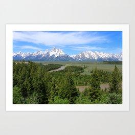 Snake River And The Grand Tetons Art Print