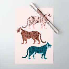 Three Tigers Wrapping Paper
