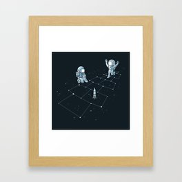 Hopscotch Astronauts Framed Art Print
