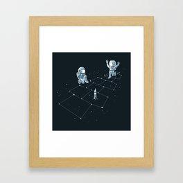Hopscotch Astronauts Framed Art Print