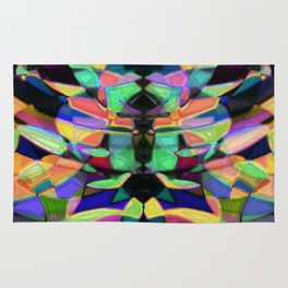 Drinkin Whiskey and Rye: Colorful Digital Abstract Design Rug