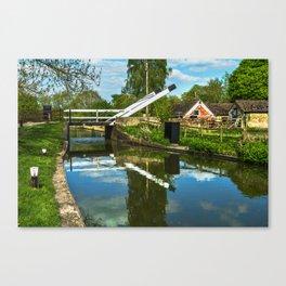 Aubreys Lift Bridge  At Thrupp Canvas Print