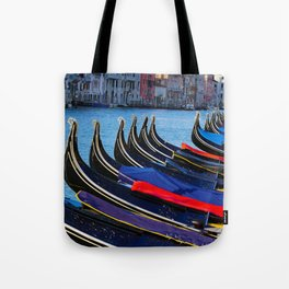 Venice canals, Gondolas, palace in Venice, Travel to Venice, Italy Tote Bag