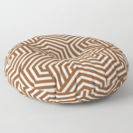 Russet - brown - Minimal Vector Seamless Pattern Floor Pillow