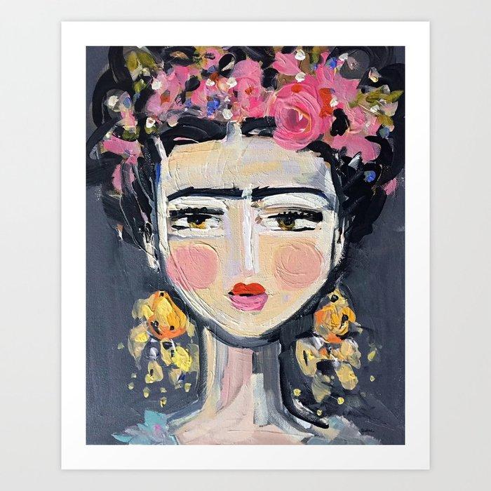 Portrait Inspired by Frida Kunstdrucke
