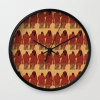 girls Wall Clocks featuring Girls by Nahal
