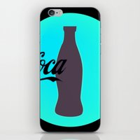 coca cola iPhone & iPod Skins featuring Coca cola by Mary Stephenson