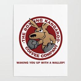 Boxing Kangaroo Coffee Company Poster
