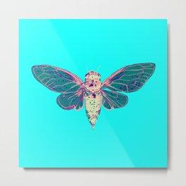Flying Cicada Metal Print
