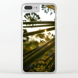 Poison Hemlock 3 Clear iPhone Case