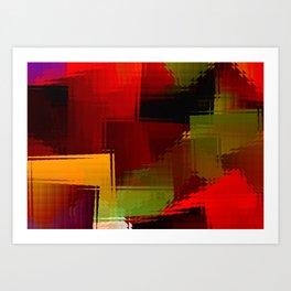 Square glass  1 Art Print