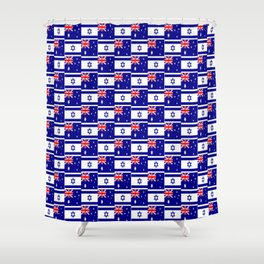 Mix of flag : Israel and Australia Shower Curtain