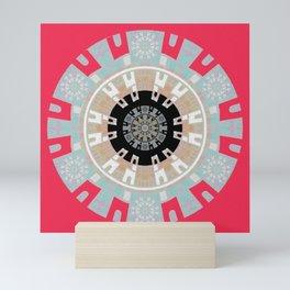 Peace is Power Neo Tribal Meditation Mandala Mini Art Print