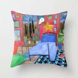 Desert Bedroom Throw Pillow