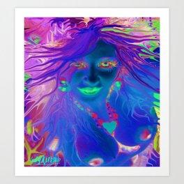 Art,fairy wood nymph,Nude ladykashmir hot ,pink,yellow,i pod,lap top,t shirt,cups,tote ,bags, Art Print