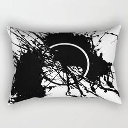 Form Out Of Chaos - Black and white conceptual abstract Rectangular Pillow