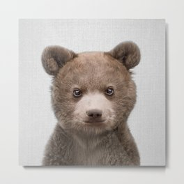 Baby Bear - Colorful Metal Print