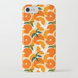 Orange Harvest - White iPhone Case