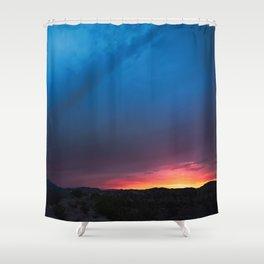 Sunrise on Nevada Hwy Shower Curtain