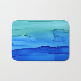 Alcohol Ink Seascape Bath Mat