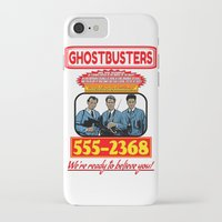 ghostbusters iPhone & iPod Cases featuring Ghostbusters Advertisement by Silvio Ledbetter