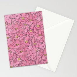 Lotuses Collage Stationery Cards