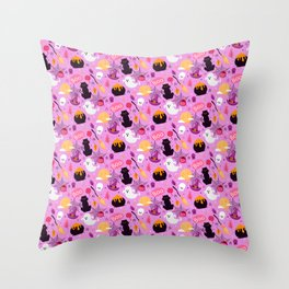 spooky cute halloween Throw Pillow