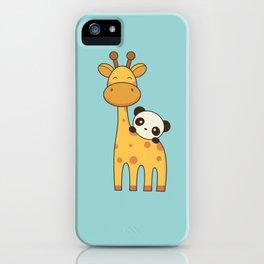 Cute and Kawaii Giraffe and Panda iPhone Case
