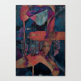 disquiet seventeen (spontaneous self assembly) Canvas Print