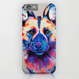 Painted Hunting Dog / African wild dog iPhone Case