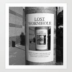 Lost Wormhole Art Print