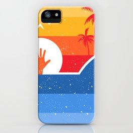 Retro minimalist attack shark iPhone Case
