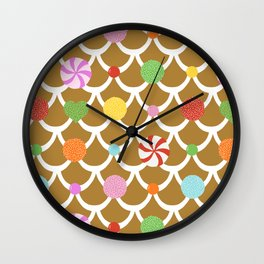 Gingerbread House Roof Wall Clock