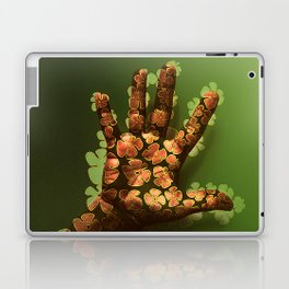 Handful Hand Full of Flowers - Drawing on Photo Laptop & iPad Skin