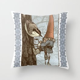 Gnome Tapper Throw Pillow
