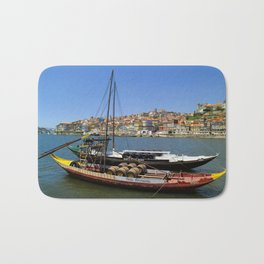 Port wine barges on the Douro Bath Mat
