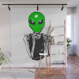 Skeleton with et mask Wall Mural