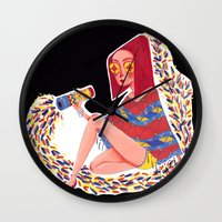 kaleidoscope Wall Clocks featuring Kaleidoscope by Hannah Lee Stockdale