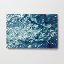 Air bubbles, underwater bubbles Abstract underwater background. Metal Print