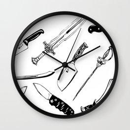 Swords and Knives Wall Clock